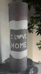 Leuchtröhrenlampe inkl. Lichterkette mit Strom/Motiv:  I Love Home