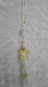 Dekokette mit Vogelhäuschen und Sclhleifenbändern