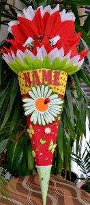 Schultüte Zuckertüte Marienkäfer neu Einschulung Blume Schmetterling Rohling 68