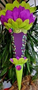 Schultüte Zuckertüte Rohling zum selbst verzieren für Mädchen (Kopie id: 24982)