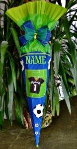 Handgemachte Schultüte Zuckertüte Fußball für Jungs