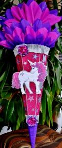 Handgemachte Schultüte Pegasus Zuckertüte  Einhorn Pferd  ABI Abitur Geschenk