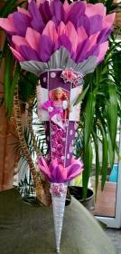 Schultüte Prinzessin für Mädchen Zuckertüte Schmetterling rosa lila