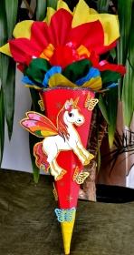 Schultüte Einhorn Pferd Pegasus  Kindergartentüte Geschwistertüte kleine Zuckertüte