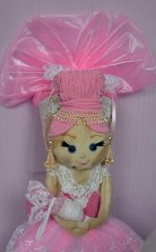 Schultüte Ballerina Zuckertüte  für Mädchen ABI  Abitur Geschenk  Blumen Tüll  Prinzessin Stoff Fell  - Handarbeit kaufen
