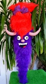 Schultüte Monster Zuckertüte  für Jungs und Mädchen ABI  Abitur Geschenk  Stoff Fell  - Handarbeit kaufen