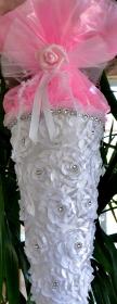 Schultüte Schmetterling  Zuckertüte Rohling für Mädchen ABI  Abitur Geschenk   3D Rosen - Handarbeit kaufen