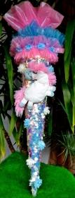 Schultüte Einhorn  Zuckertüte  Stoffschultüte Rohling für Mädchen ABI  Abitur Geschenk Pferd Blumen rosa