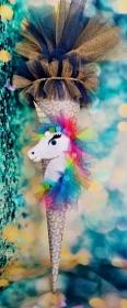 Schultüte Einhorn Pferd Pegasus  Zuckertüte  - Handarbeit kaufen