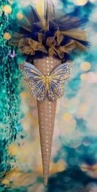 Schultüte Schmetterling  Zuckertüte   - Handarbeit kaufen