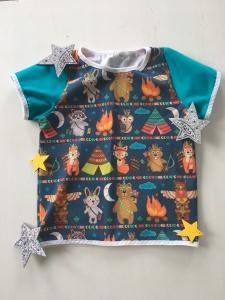 Tshirt Shirt Indianer Tiere genäht in den Größen 56 - 128