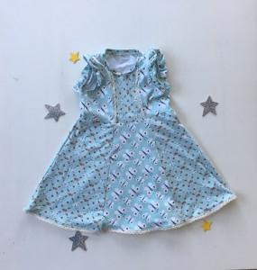 Kleid mit Spitze und Flügelärmel Schmetterlingsliebe, Größen 86 - 128