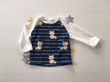 Pullover Shirt Mr. Fox genäht in den Größen 56 - 128