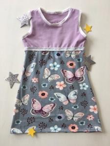Kleid Schmetterlinge genäht in den Größen 56 - 128