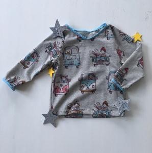 Pullover Shirt Tuut tuut genäht in den Größen 56 - 128