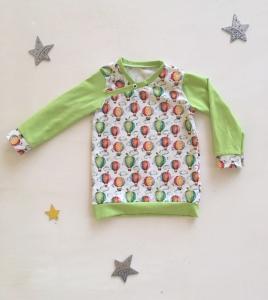 Pullover Shirt Heißluftballons genäht in den Größen 56 – 128