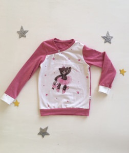 langärmeliger Pullover Shirt Ballerina Bär genäht in den Größen 56 – 128