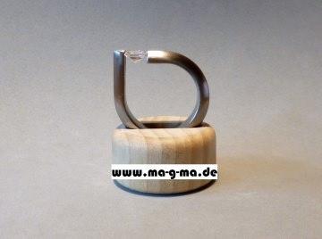 Designer - Ring aus Edelstahl mit kristallweißem Zirkonia