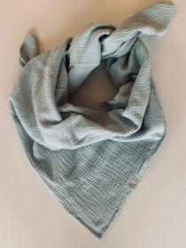 ☆HANNE_ helles mint kuscheliges Musselin Halstuch 120cm x 120cm - Handarbeit kaufen
