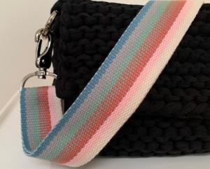 ☆EMIL_ Regenbogen  verstellbarer Taschengurt mit Karabiner  - Handarbeit kaufen
