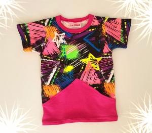 LHM farbenfrohes Babyshirt mit großer Bauchtasche - Handarbeit kaufen