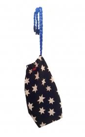 LHM Beuteltasche mit Sternen aus hochwertigem Baumwollstoff - Handarbeit kaufen