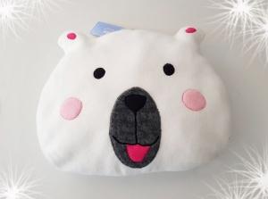 LHM Kinderkissen Teddybär zum kuscheln aus Wintersweat - Handarbeit kaufen