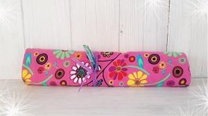 LHM Baumwolljersey in rosa mit buntem Blumenmuster - Handarbeit kaufen