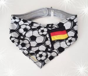 LHM Halstuch Fussballmuster mit Deutschlandflagge