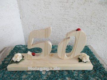 Geburtstags Zahl zum  Geburtstag für Männer und Frauen aus Fichtenholz angefertigt  als Geschenk