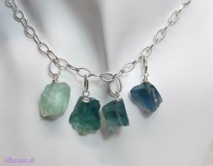Unikat Halskette *Ozeanbrise* mit Fluorit 925 Silber einkaufen