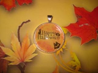 Kettenanhänger - Happy Halloween - spooky, originell