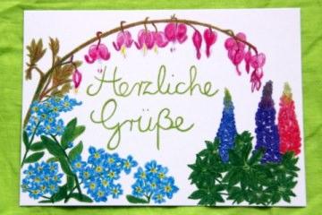 Handgemalte Blumenkarte