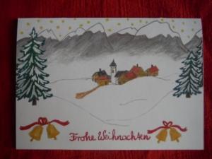 Weihnachts- Klappkarte Frohe Weihnachten