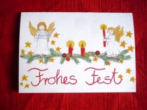 Weihnachts- Klappkarte Frohes Fest