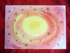 Weihnachtskarte goldene Sterne