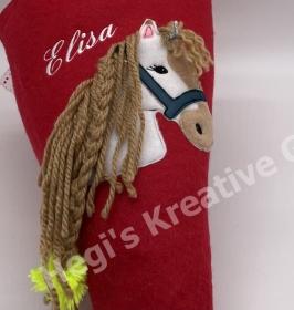 Schultüte 50 cm Pferd Zuckertüte Einschulung Schulanfang mit Namen Filz 3 mm Handarbeit - Handarbeit kaufen