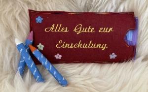 Zur Einschulung Schulanfang Geschenkverpackung Schokoladenhülle Geschenk Alles Gute.. - Handarbeit kaufen