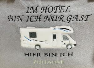 Tasche Wohnmobil Camper, Einkauf, Shopper, Einkaufstasche,  Im Hotel ....bin ich zu Hause Unikat - Handarbeit kaufen