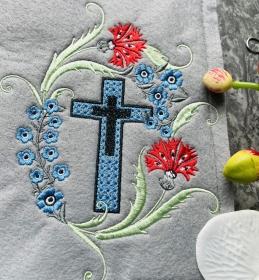 Gotteslobhülle Gotteslob Gebetbuch Hülle Umschlag aus Filz Handarbeit Stickerei - Handarbeit kaufen