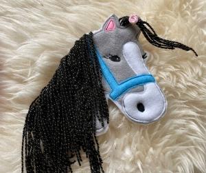 Applikation Pferd Bügelbild Patches, Aufnäher, Bügelapplikation,Patch, Pony, Wollmähne Groß gestickt 16 x 16  - Handarbeit kaufen