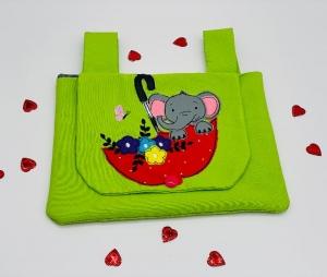 Fahrradtasche Lenkradtasche Rollertasche Puppenwagen Tasche Laufrad Utensilo Elefant - Handarbeit kaufen