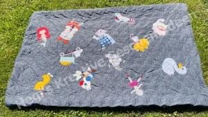 Baby Decke Krabbeldecke Spieldecke Kuscheldecke Katze Meerjungfrau Unikat