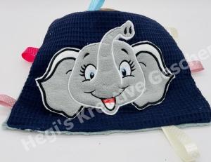Knistertuch Schmusetuch Elefant Greiftuch Fummeltuch Spieltuch Babyspielzeug - Handarbeit kaufen