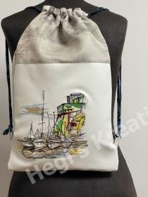 Rucksack Sportbeutel Turnbeutel romantischer Rucksack - Festival Bag Schiffe Individuell Handarbeit - Handarbeit kaufen