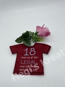Flaschenkleid Flaschen T-Shirt Geniale Idee für jeden Anlass Geschenke Zum 18 Geburtstag - Handarbeit kaufen
