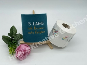 Klopapierhülle Toilettenpapierhülle Banderrole Filz bestickt handarbeit Lustig 5-Lagig Filz - Handarbeit kaufen