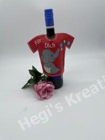 Flaschenkleid Flaschen T-Shirt Geniale Idee für jeden Anlass Geschenke mit Elefand Für Dich - Handarbeit kaufen