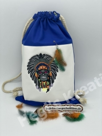 Rucksack Sportbeutel Turnbeutel Indianer Festival Bag Tasche  Individuell Handarbeit Warrior Skull - Handarbeit kaufen
