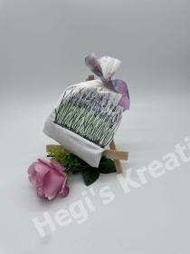 Lavendelkissen Lavendelbeutel Lavendel Säckchen verziert mit gestickten Lavendel - Handarbeit kaufen